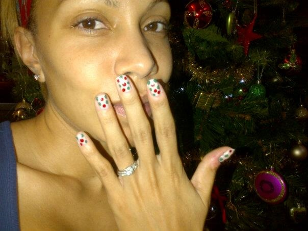 My happy Christmas manicure