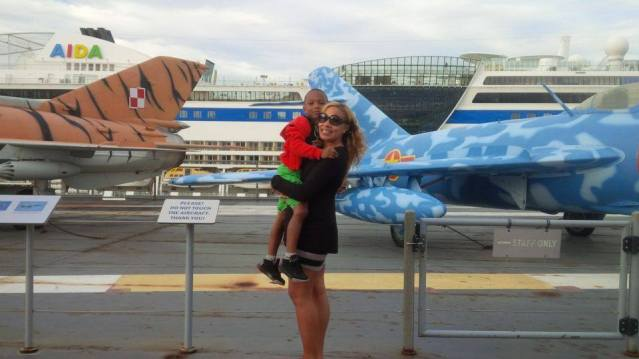 The boys love their airplanes